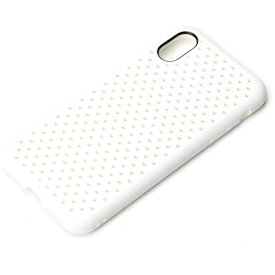 PGA iPhone X用 ドットメッシュケース ホワイト PG-17XTP09WH
