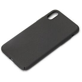 PGA iPhone X用 ポリカーボネートケース ラバーブラック PG-17XPC02BK