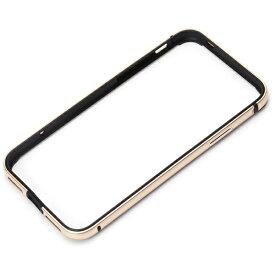 PGA iPhone X用 アルミ+TPUハイブリッドバンパー ゴールド PG-17XBP06GD