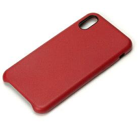 PGA iPhone X用 PUレザーケース ワインレッド PG-17XPU04RD