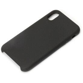 PGA iPhone X用 シリコンケース ブラック PG-17XSC01BK