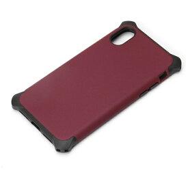 PGA iPhone X用 ハイブリッドタフケース ワインレッド PG-17XPT03RD