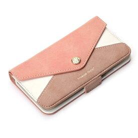 PGA iPhone X用 手帳型 フリップカバー レター型ポケット ピンク PG-17XFP33PK