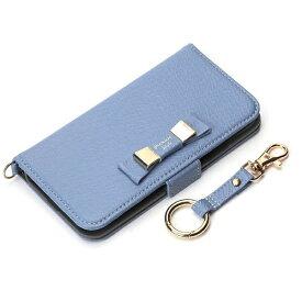 PGA iPhone X用 手帳型 フリップカバー ダブルリボン ブルー PG-17XFP29BL