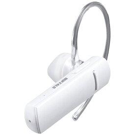 BUFFALO バッファロー BSHSBE200WH ヘッドセット ホワイト [ワイヤレス(Bluetooth) /片耳 /イヤフックタイプ][BSHSBE200WH]