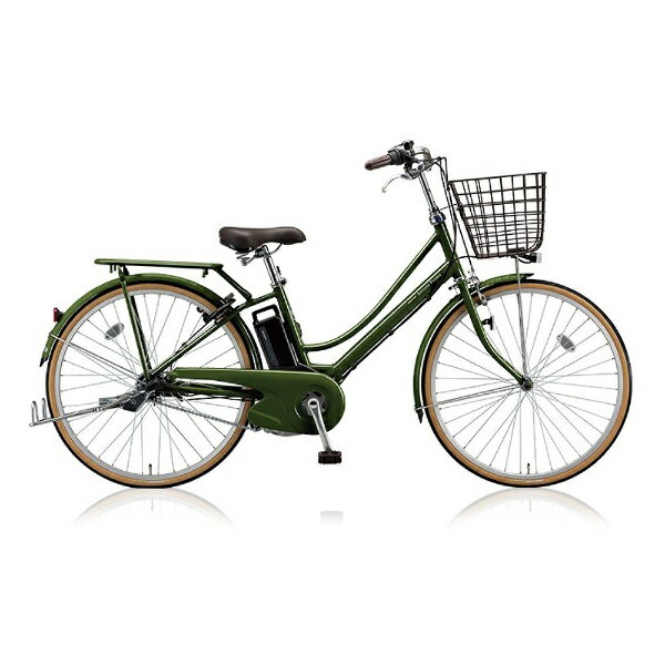 【送料無料】 ブリヂストン 26型 電動アシスト自転車 アシスタプリマ(E.Xダークオリーブ/内装3段変速) A6PD18【2018年モデル】【組立商品につき返品不可】 【代金引換配送不可】