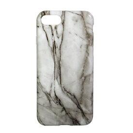 OWLTECH オウルテック iPhone 8用 背面ケース TPU 大理石柄 ホワイト CURREN OWL-CVIP730-WH