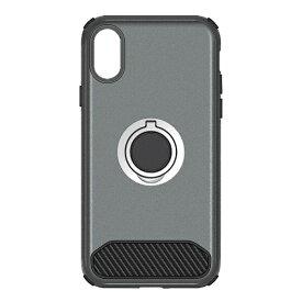 OWLTECH オウルテック iPhone X用 背面ケース バンカーリング付 ガンメタル STD OWL-CVIP829-GM