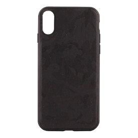 OWLTECH オウルテック iPhone X用 背面ケース 表迷彩柄 ブラック STD OWL-CVIP828-CABK