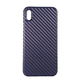 OWLTECH オウルテック iPhone X用 背面ケース PP カーボン柄 ネイビー STD OWL-CVIP826-CBNV