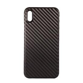 OWLTECH オウルテック iPhone X用 背面ケース PP カーボン柄 ブラック STD OWL-CVIP826-CBBK