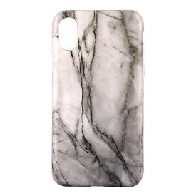 OWLTECH オウルテック iPhone X用 背面ケース TPU 大理石柄 ホワイト CURREN OWL-CVIP819-WH