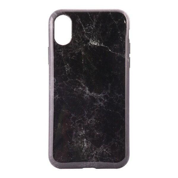 OWLTECH iPhone X用 背面ケース TPU 大理石柄 ブラック CURREN OWL-CVIP819-BK