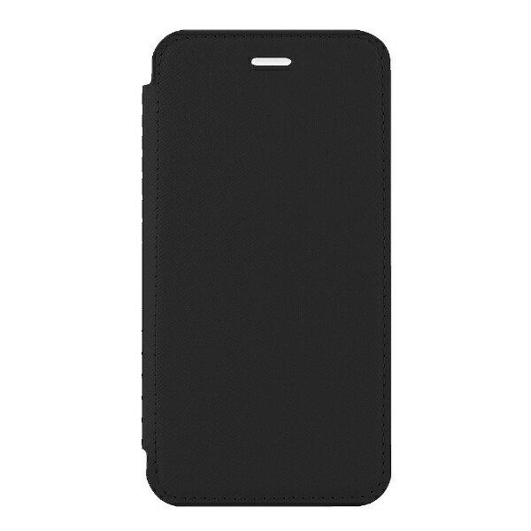 OWLTECH iPhone X用 手帳型ケース PUx背面クリア TPU ブラック STD OWL-CVIP814-BK