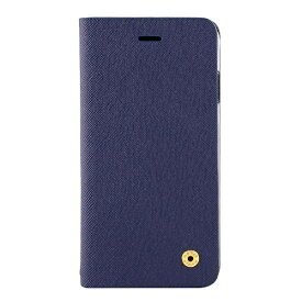 OWLTECH オウルテック iPhone X用 手帳型ケース サフィアーノ柄 ネイビー CURREN OWL-CVIP804-NV