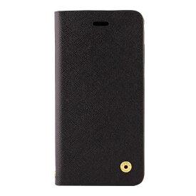 OWLTECH オウルテック iPhone X用 手帳型ケース サフィアーノ柄 ブラック CURREN OWL-CVIP804-BK