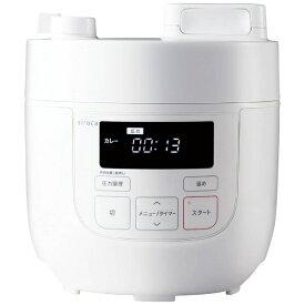 siroca シロカ 電気圧力鍋 ホワイト[圧力/無水/蒸し/炊飯/温め直し/コンパクト] siroca ホワイト SP-D121[SPD121 電気鍋]