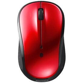 BUFFALO バッファロー BSMBB108RD マウス レッド [BlueLED /3ボタン /Bluetooth /無線(ワイヤレス)][BSMBB108RD]