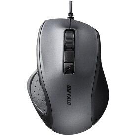 BUFFALO バッファロー BSMBU308BK マウス ブラック [BlueLED /5ボタン /USB /有線][BSMBU308BK]
