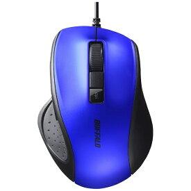 BUFFALO バッファロー BSMBU308BL マウス ブルー [BlueLED /5ボタン /USB /有線][BSMBU308BL]