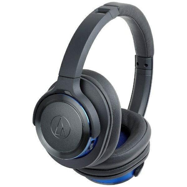 オーディオテクニカ ブルートゥースヘッドホン ATH-WS660 GBL グレーブルー [Bluetooth][ATHWS660BTGBL]