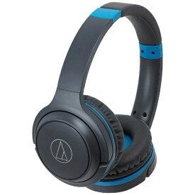 オーディオテクニカ audio-technica ブルートゥースヘッドホン ATH-S200BT グレーブルー [リモコン対応 /Bluetooth][ATHS200BTGBL]