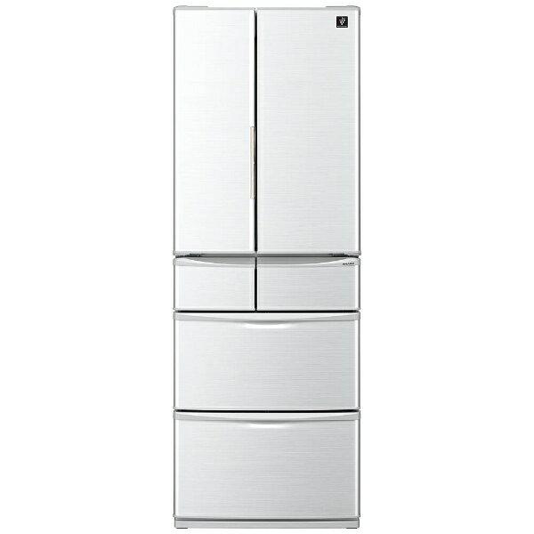【標準設置費込み】 シャープ 6ドア冷蔵庫 (455L) SJ-P461D-H グレー系[SJP461D_H]