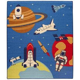 イケヒコ IKEHIKO ラグ スペース 平織(110×133cm/ブルー)