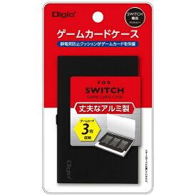 ナカバヤシ Nakabayashi SWITCH用アルミゲームカードケース3枚入 ブラック MCC-SWI01BK[Switch]