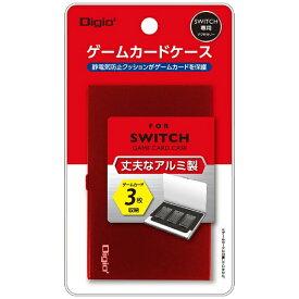 ナカバヤシ SWITCH用アルミゲームカードケース3枚入 レッド MCC-SWI01R[Switch]