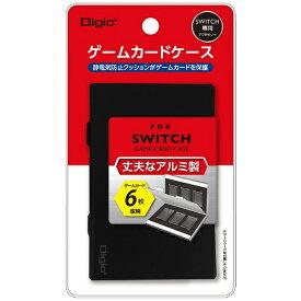 ナカバヤシ Nakabayashi SWITCH用アルミゲームカードケース6枚入 ブラック MCC-SWI02BK[Switch]