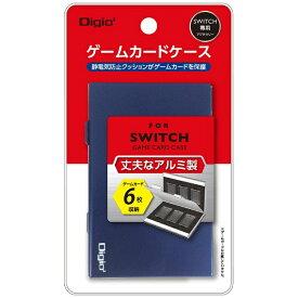 ナカバヤシ SWITCH用アルミゲームカードケース6枚入 ブルー MCC-SWI02BL[Switch]