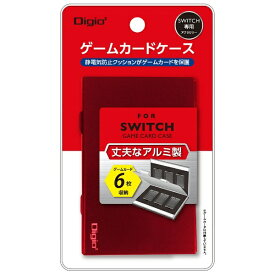 ナカバヤシ SWITCH用アルミゲームカードケース6枚入 レッド MCC-SWI02R[Switch]