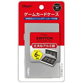 ナカバヤシ SWITCH用アルミゲームカードケース6枚入 シルバー MCC-SWI02SL[Switch]
