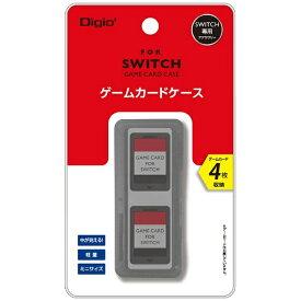 ナカバヤシ SWITCH用ゲームカードケース4枚入 ブラック MCC-SWI03BK[Switch]
