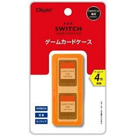 ナカバヤシ Nakabayashi SWITCH用ゲームカードケース4枚入 オレンジ MCC-SWI03DD[Switch]
