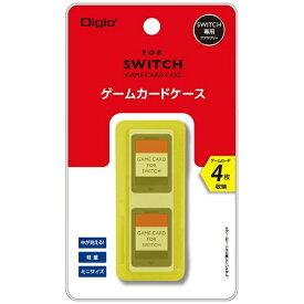 ナカバヤシ SWITCH用ゲームカードケース4枚入 イエロー MCC-SWI03Y[Switch]