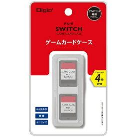 ナカバヤシ SWITCH用ゲームカードケース4枚入 ホワイト MCC-SWI03W[Switch]