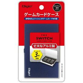 ナカバヤシ Nakabayashi SWITCH用アルミゲームカードケース3枚入 ブルー MCC-SWI01BL[Switch]