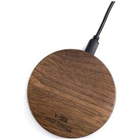 アイキューラボ iQ Labo ワイヤレス充電器[Qi対応]YOGEE Qi対応 Wirelesscharger YG-W-WD ウォールナット [ワイヤレスのみ][YGWWD]