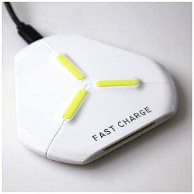 アイキューラボ iQ Labo ワイヤレス充電器[Qi対応]CONSON Qi対応 Wireless Charging Triangle WC-FC-T-WH ホワイト [ワイヤレスのみ][WCFCTWH]