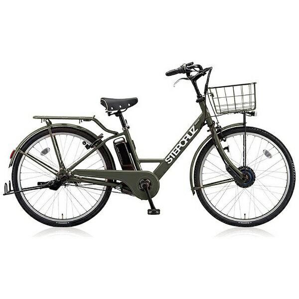 【送料無料】 ブリヂストン 26型 電動アシスト自転車 STEP CRUZ e(T.Xマットカーキ/内装3段変速) ST6B48 【2018年モデル】【組立商品につき返品不可】 【代金引換配送不可】