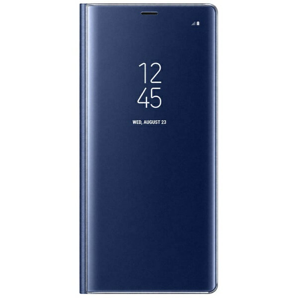 SAMSUNG 【サムスン純正】 Galaxy Note8用 CLEAR VIEW STANDING COVER ブルー EF-ZN950CNEGJP[EFZN950CNEGJP]
