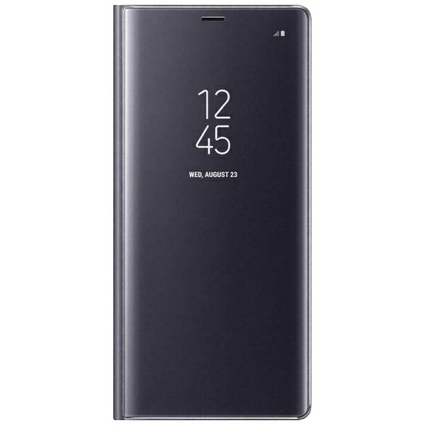 SAMSUNG 【サムスン純正】 Galaxy Note8用 CLEAR VIEW STANDING COVER グレイ  EF-ZN950CVEGJP
