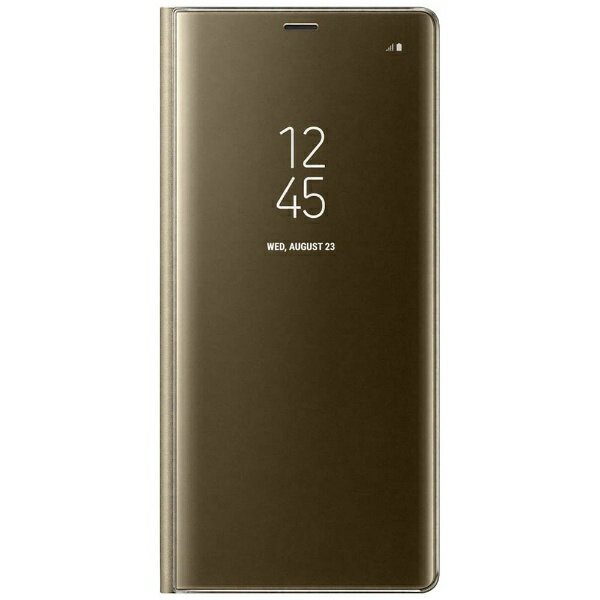 SAMSUNG 【サムスン純正】 Galaxy Note8用 CLEAR VIEW STANDING COVER ゴールド EF-ZN950CFEGJP