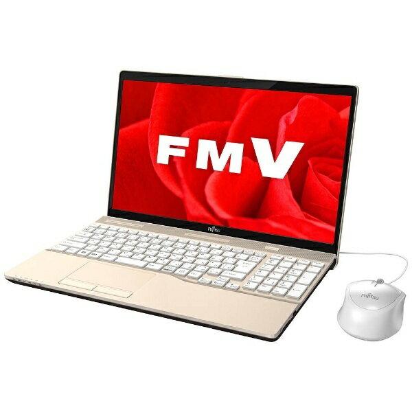 【送料無料】 富士通 15.6型ノートPC[Office付き・Win10 Home・Core i3・HDD 1TB・メモリ 4GB] LIFEBOOK AH45/B3 シャンパンゴールド FMVA45B3G(2017年秋冬モデル)