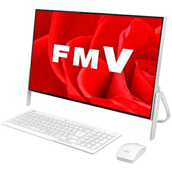 【送料無料】 富士通 23.8型デスクトップPC[Office付き・Win10 Home・Core i7・HDD 1TB・メモリ 4GB] ESPRIMO FH70/B3 ホワイト FMVF70B3W(2017年秋冬モデル)
