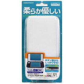 ゲームテック GAMETECH new2DSLL用本体カバー シリコンプロテクタ ホワイト N2F1996[New2DS LL]