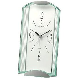 リズム時計 RHYTHM 置き時計 エピソル556 緑透明色 4SE556SR03