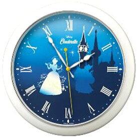リズム時計 RHYTHM 掛け時計 シンデレラ804 白パール色(青) 8MG804MC04